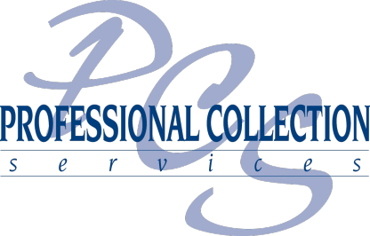Professional Collection Services Blue Logo
